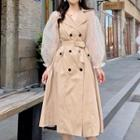 Dotted Panel Trench Coat