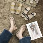 Two -way Rhinestone Strappy Sandals