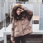 Hooded Padded Zip-up Coat