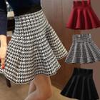 Houndstooth Ruffle Mini Skirt