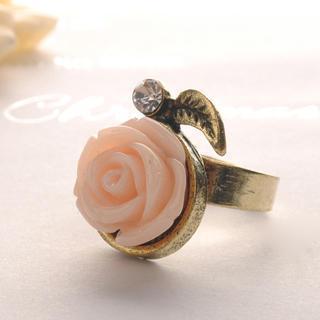 Diamond Rose Ring  Pink - One Size