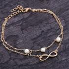 Beaded Double-chain Anklet