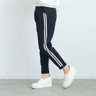 Striped Sweatpants Black - One Size