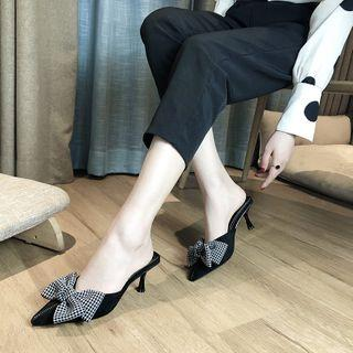 High-heel Ribbon Bow Mules