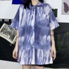 Tie Dye Short-sleeve Shirt As Shown In Figure - One Size