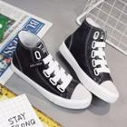 Velcro High-top Canvas Sneakers