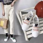 Adhesive Strap Canvas Sneakers