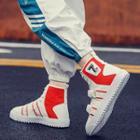 High Top Color Block Sneakers