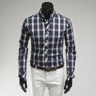 Button-down Plaid Shirt