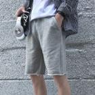 Printed Elastic-waist Shorts