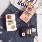 Faux-leather Flower Mini Cross Bag