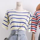 Lightweight Striped Knit Top