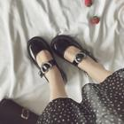 Heart Buckle Mary Jane Flats