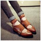Buckled Ankle Strap Flats