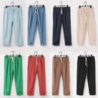 Drawstring Baggy Cropped Pants