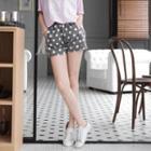 Elastic Waist Polka Dot Shorts
