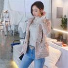 Shawl-lapel Tweed Jacket