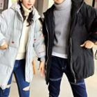 Couple Hooded Long Padded Coat