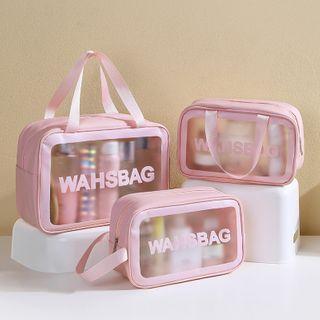 Lettering Pvc Makeup Bag