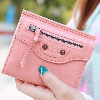 Studded Zip Short Wallet