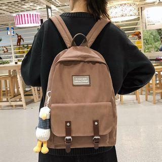 Animal Charm Cotton Backpack