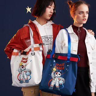 Panda Print Nylon Tote Bag