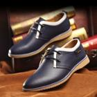 Panel Genuine Leather Oxfords