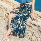 Midi Floral Chiffon A-line Skirt