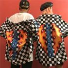 Couple Matching Checker Print Shirt