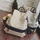 Color Block Zip Backpack