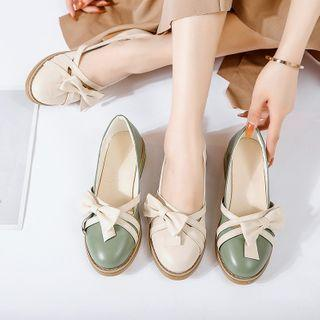 Double Strap Bow Mary Jane Flats