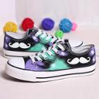 Painted Moustache Canvas Sneakers