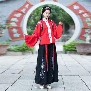 Embroidered Hanfu Top / Maxi Skirt / Cape