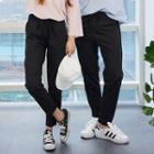 Couple Band-waist Tapered Pants