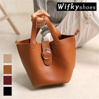 Buckled Mini Tote With Pouch