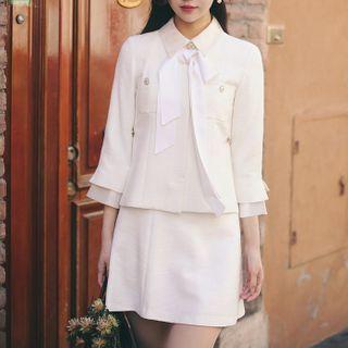 Short-sleeve A-line Dress / A-line Skirt / Jacket