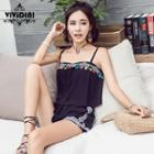Set: Embroidered Camisole + Shorts