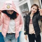 Smiley Hooded Padded Jacket