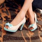 Platform Ribbon Pumps