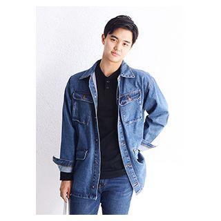 Flap Pocket-detail Denim Jacket