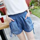 Brushed Chambray Shorts
