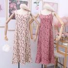 Corduroy Printed Sleeveless Dress