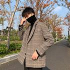 Lapel Houndstooth Wool Jacket