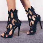 Cutout High-heel Sandals