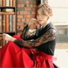 Lace-sleeve Hanbok Top