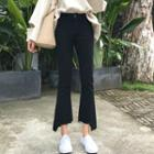Slim-fit Cropped Boot-cut Jeans