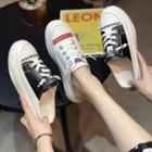 Lettering Platform Slide Sneakers