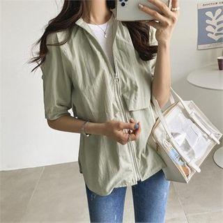 Short-sleeve Zip-front Jacket