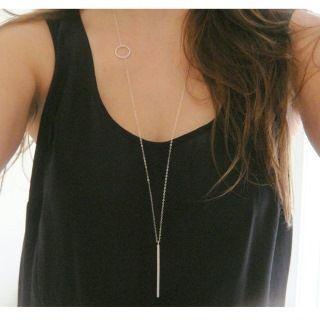 Bar-pendant Long Necklace