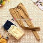 Drawstring-waist Corduroy Pants